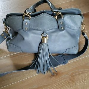Lena Erziak gray leather purse made in Italy